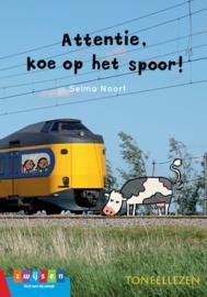 Attentie, koe op het spoor!