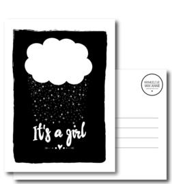 KAART A6 - it's a girl