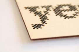 DIY borduurkaart - yeah