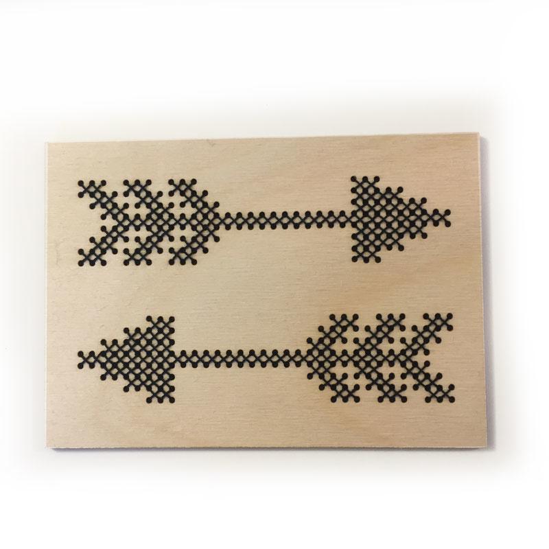 DIY borduurkaart - arrows