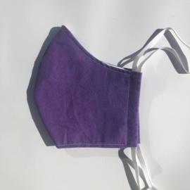 Mondmasker 'Tiener' paars met elastiek