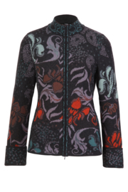 IVKO Woman - Jacquard Jacket with Embroidery Anthracite