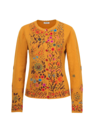 IVKO Cardigan Floral Intarsia Golden Yellow
