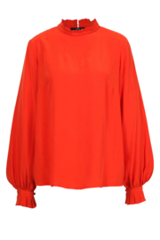 IVKO Woman - Blouse with Pleats Red Orange