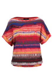 IVKO Woman - Brocade Pullover Sunset Motif Red