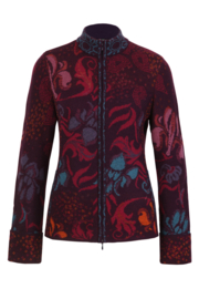 IVKO Woman - Jacquard Jacket with Embroidery Blackberry