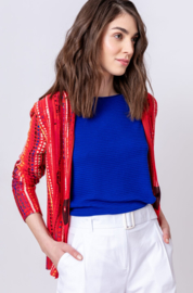 IVKO Woman - V-Neck Jacket African Pearls Red