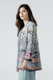 IVKO Woman - Long Cardigan Jacquard Pattern Off-White - Pre-Collectie 2020