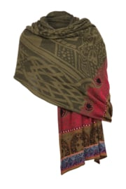 IVKO Woman - Scarf Structure Pattern Olive - Pre-Collectie 2020