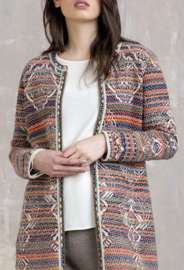 IVKO Long Jacket Geometric Pattern Pearl