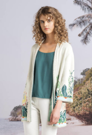 IVKO Long Jacket with Embroidery Off-White