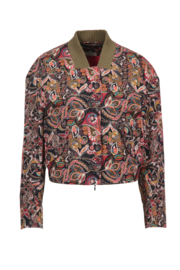 IVKO Woman - Bomber Jacket Floral Pattern Black - Pre-Collection 2020