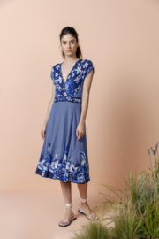 IVKO Woman - Dress Intarsia Pattern China Blue