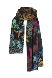 IVKO Woman - Printed Scarf Floral Pattern Black