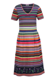 IVKO Floral Striped Dress Marine