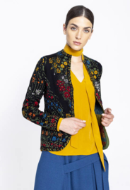 IVKO Jacket Floral Pattern Black