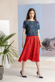 IVKO Woman - Floral Skirt Red
