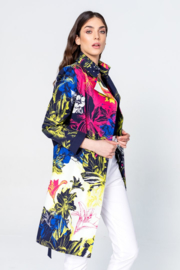 IVKO Woman - Coat with Print Marine