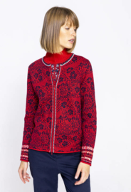 IVKO Cardigan Geometric Pattern Red
