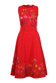 IVKO Woman - Floral Embroidery Dress Red