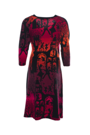 LaLamour Wrap Dress Dance Palace Red Gradient