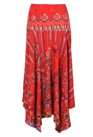 IVKO Long Skirt with Print Red