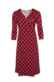 LaLamour Classic Wrap Dress Bloom Black