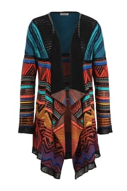 IVKO Woman - Cardigan Geometric Pattern Black