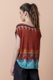 IVKO Woman - Pullover with Print Red Orange