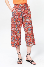 IVKO Woman - Pants Geometric Pattern Red Orange