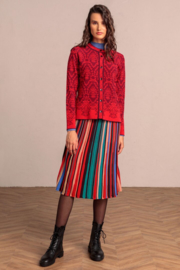 IVKO Woman - Cardigan Structure Pattern Red