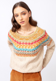 IVKO Woman - Jacquard Pullover Structure Pattern Off-White
