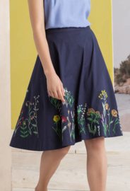 IVKO Woman - Skirt Floral Embroidery Marine
