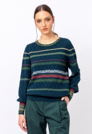 IVKO Woman - Structure Pullover Grasset Floral Pattern Green