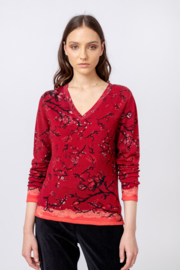 IVKO Woman - Printed Pullover Cherry Blossom Pattern Rosewood