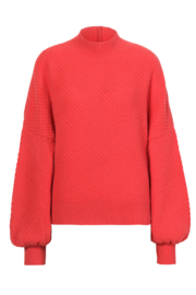 IVKO Woman - Solid Pullover Structure Pattern Coral