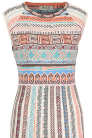 IVKO Woman - Dress Geometric Pattern Off-White