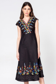 IVKO Woman - Dress with Embroidery Black