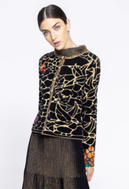 IVKO Woman - Jacquard Pattern Cardigan Black