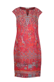 IVKO Woman - Linen Printed Dress Red
