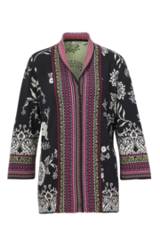 IVKO Woman - Jacquard Cardigan Long Black