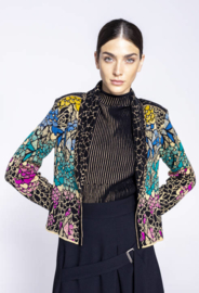 IVKO Collar Jacket Jacquard Pattern Black