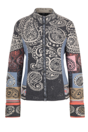 IVKO Woman - Jacquard Jacket with Embroidery Dark Grey