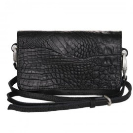 PimpsandPearls Tasss 15 Croco Paris Black