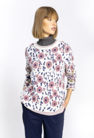 IVKO Pullover Floral Pattern Off-White