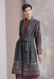 IVKO Printed Coat Geometric Pattern Anthracite