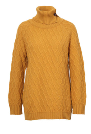 IVKO Woman - Pullover Structure Print  Golden Yellow
