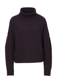 IVKO Roll-Neck Pullover Structure Pattern Russet
