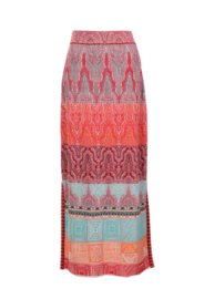 IVKO Loose Stitch Long Skirt Red