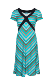 LaLamour Cross Dress Stripe Turquoise